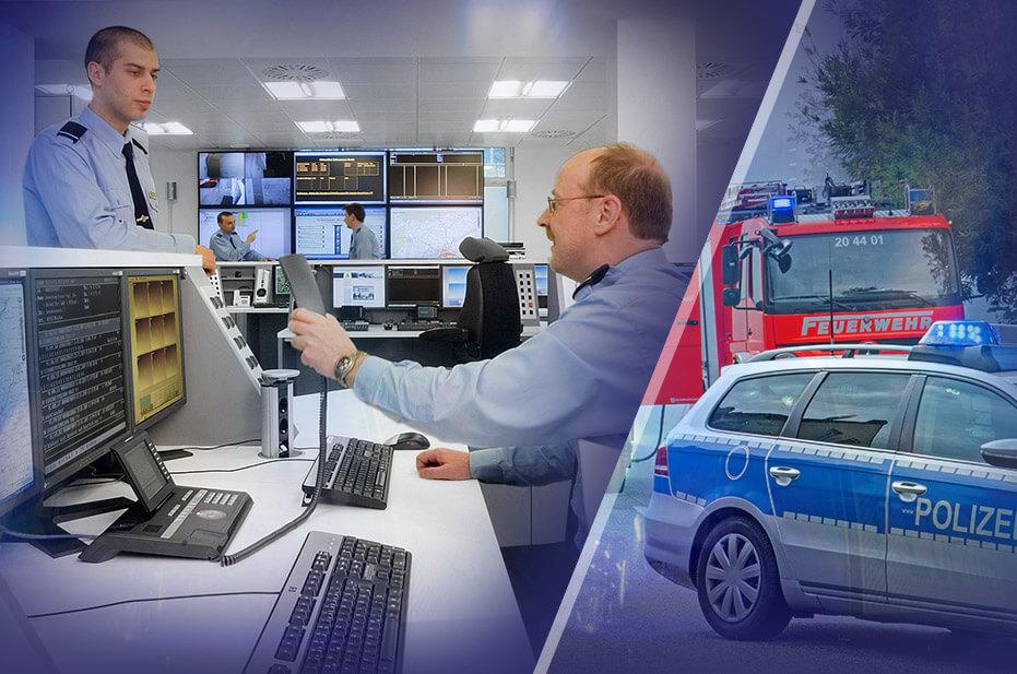 Leitstelle und Krisenstab - zuverlässige Lösung für Polizei, Feuerwehr, Security und Führungsstab