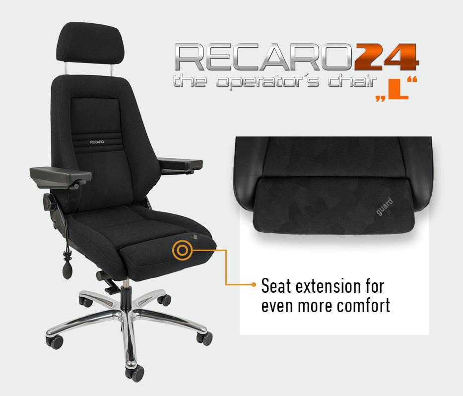 JST Technical Data for Operator Chair Recaro 24 L