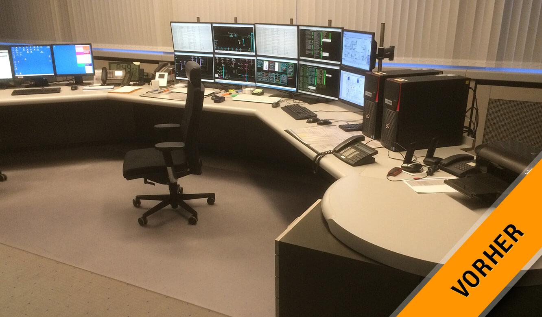 JST-Referenz GEW Energieversorger: Netzleitstelle vor der Modernisierung