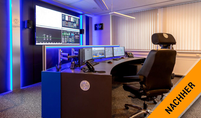 JST-Referenz GEW Energieversorger: Netzleitstelle nach der Modernisierung