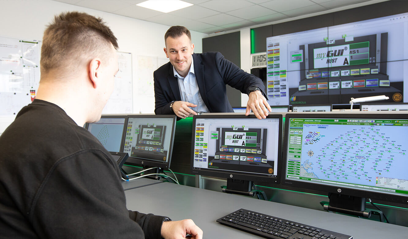 JST reference Iberdrola Sassnitz: Wind energy control centre - intuitive control system facilitates operation