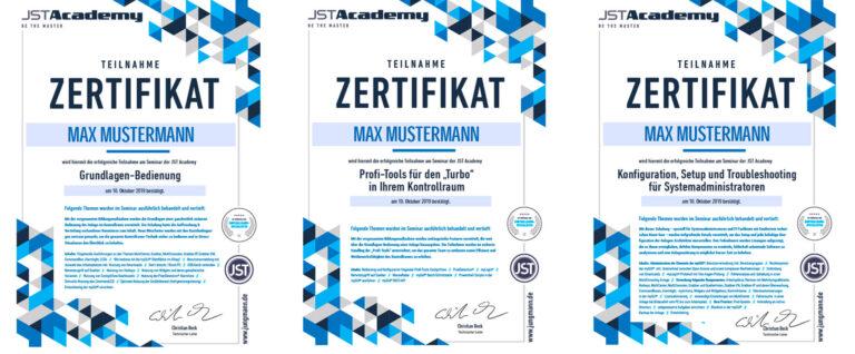 JST-Academy: Zertifikate