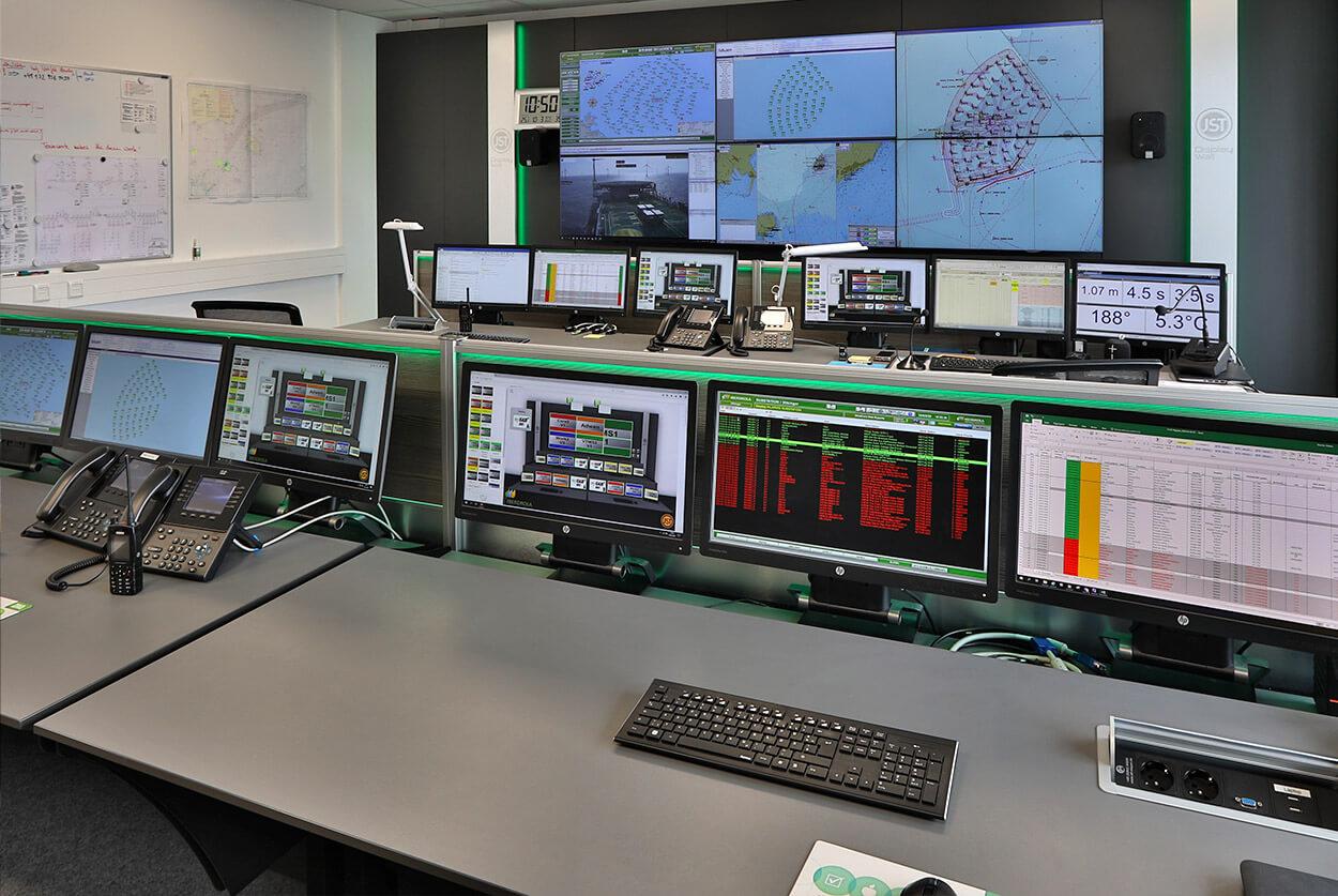 JST Referenz Iberdrola: Kontrollraum nach dem Umbau