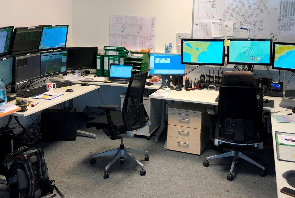 JST Referenz Iberdrola: Kontrollraum vor dem Umbau