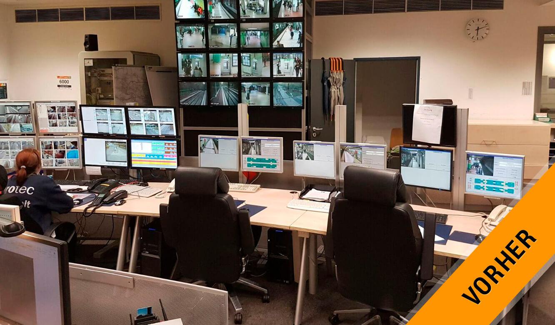 JST Referenz protec service GmbH - modern IT solution operation control center before modernization