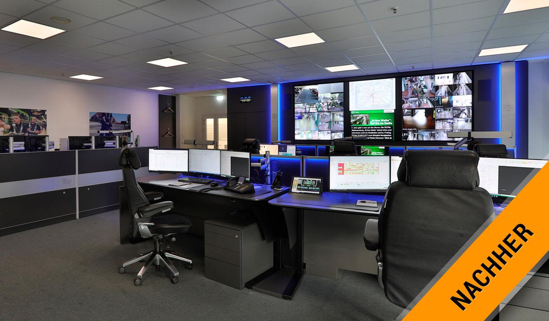 JST Referenz protec service GmbH - modern IT solution deployment control center after modernization