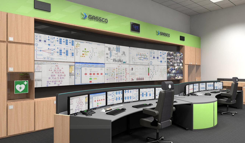 JST Referenz Energieversorger Gassco Emden Erdgas-Messwarte - 3D-Planungsskizze der Leitwarte