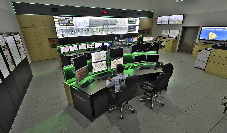 JST Referenz Energieversorger Gassco Emden Erdgas-Messwarte - Alarmlight-Beleuchtung in der Leitwarte