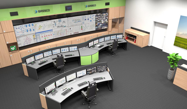 JST Referenz Energieversorger Gassco Emden Erdgas-Messwarte - Vorab-Visualisierung erleichtert Planung