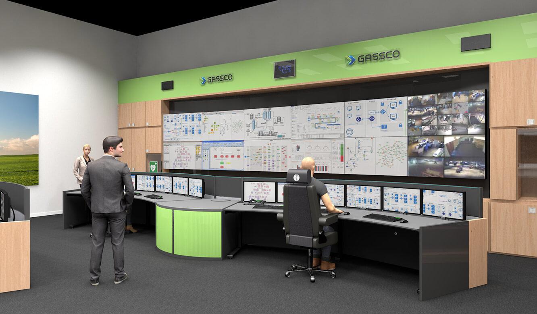 JST Referenz Energieversorger Gassco Emden Erdgas-Messwarte - 3d-Planungen zur besseren Visualisierung