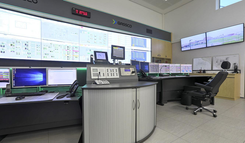 JST Referenz Energieversorger Gassco Emden Erdgas-Messwarte - Spezial-Einrichtung für Kontrollraum