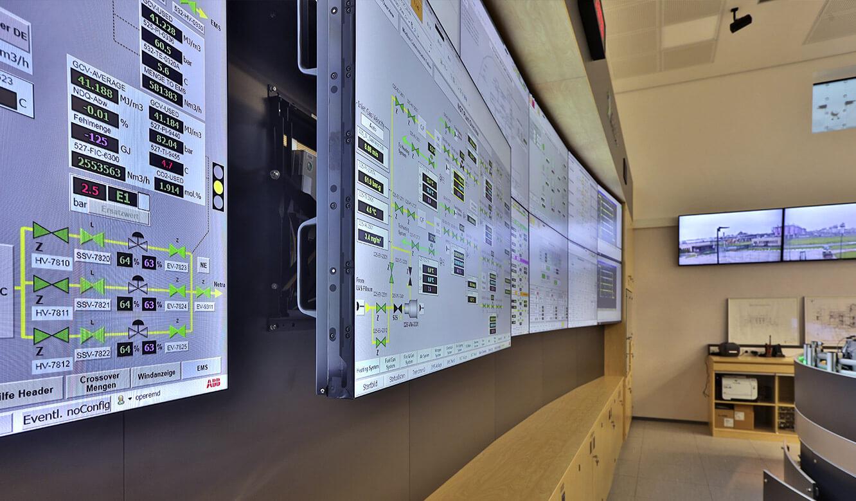 JST Referenz Energieversorger Gassco Emden Erdgas-Messwarte - einfacher Service-Zugriff durch Front-Access