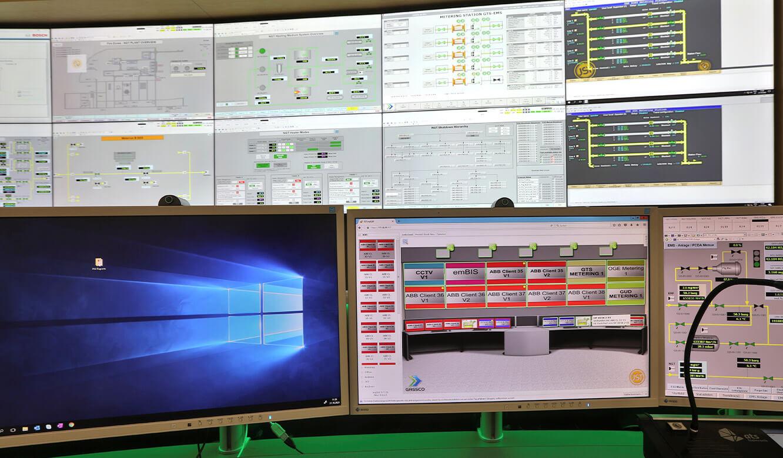 JST Referenz Energieversorger Gassco Emden Erdgas-Messwarte - myGUI Benutzer-Oberfläche für intuitive Bedienung