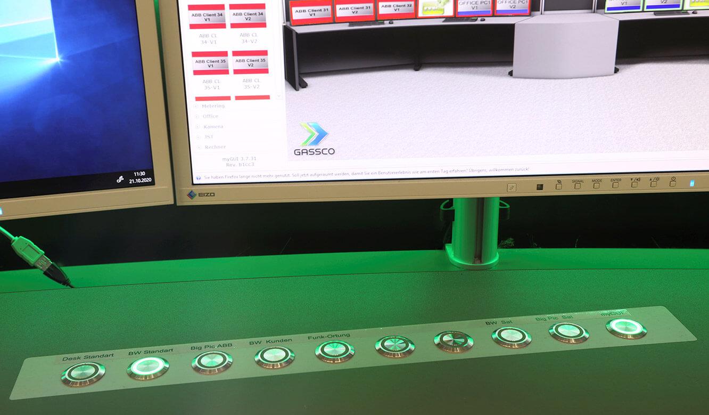 JST Referenz Energieversorger Gassco Emden Erdgas-Messwarte - schnelle Alarm-Kontrolle mit Command-Button