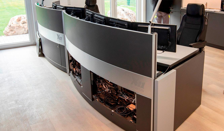 JST-Referenz HeidelbergCement Leitstand: Versorgungsraum für Kabel und Technik