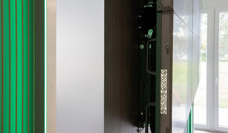 JST-Referenz HeidelbergCement Leitstand: Displays der Videowall mit Quick-Out-System