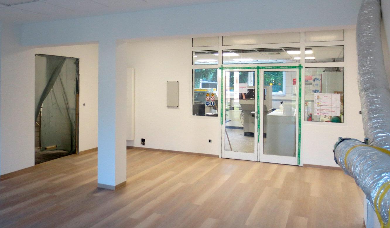 JST-Referenz HeidelbergCement Leitstand: Baustelle mit Schlauch für Klimakonzept