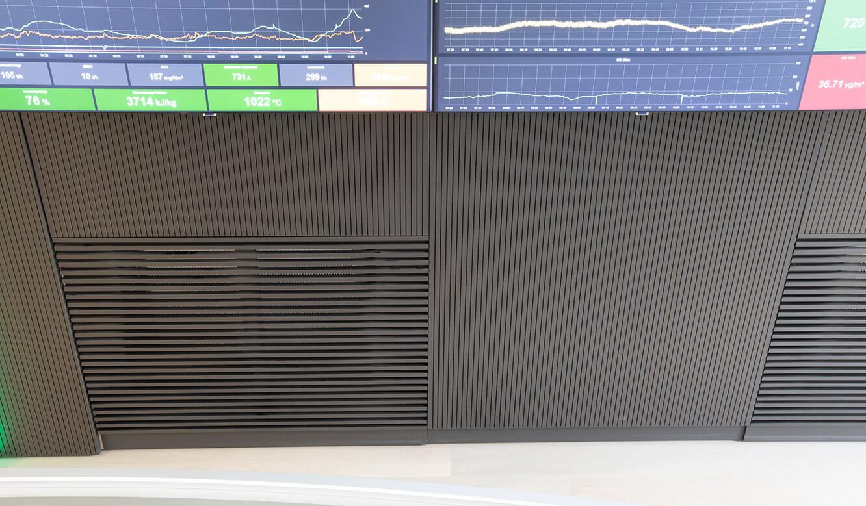 JST-Referenz HeidelbergCement Leitstand: Luftauslass für Klimatisierung der Leitwarte