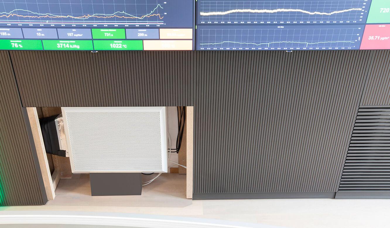 JST-Referenz HeidelbergCement Leitstand: Komponente für Klimatisierung der Leitwarte