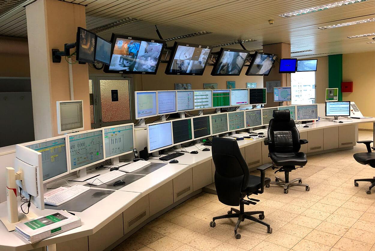 JST-Referenz HeidelbergCement Leitstand vor dem Umbau