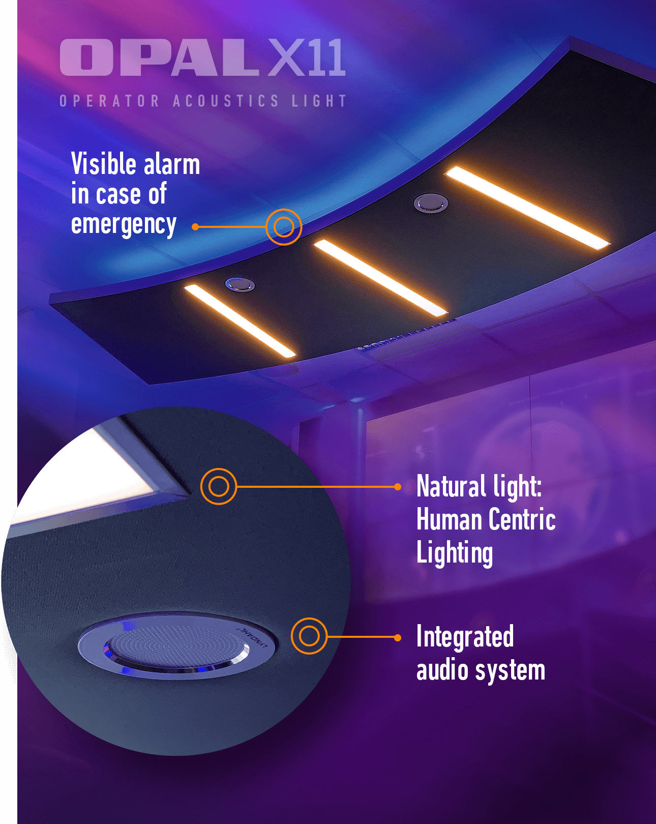 OPAL X11 – Acoustic ceiling sail for your control room